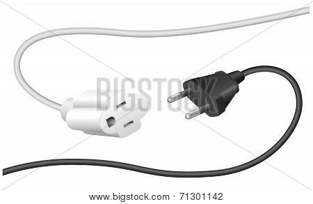 Improper Plug Extension Cable