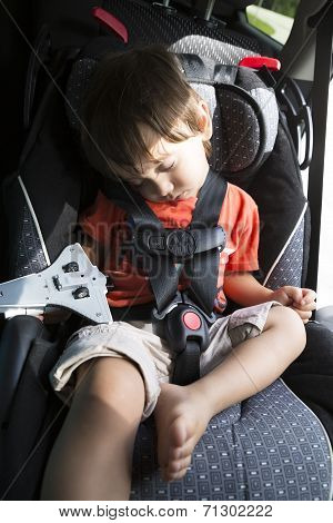 Sweet Child In His Safety Car Seat