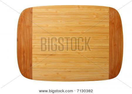 Bamboo Chopping Board Isolated On White