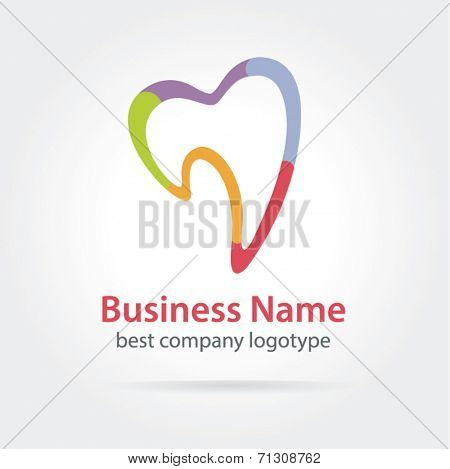 Tooth vector icon for dentists business