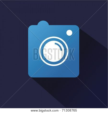 Instagram vector icon logo isolated on dark background