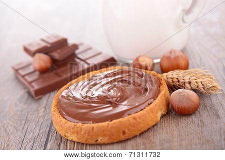 chocolate cream and bread