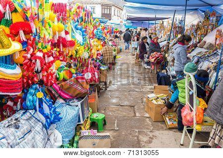Market In Copacabana, Bolivia
