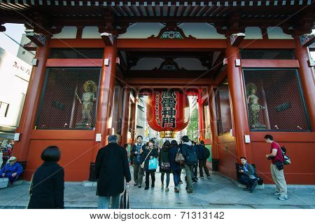 Tokyo, Japan - November 21, 2013: The Buddhist Temple Senso-ji Is The Symbol Of Asakusa