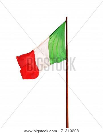 Flag Of Italy Isolated On White Background