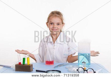 Chemist Girl In Chemistry Class