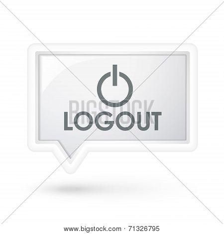 Logout Icon On A Speech Bubble