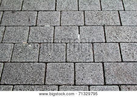 Modern grey cobblestones