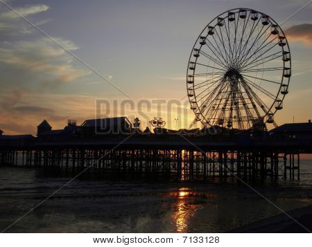 Blackpool Tower and Big wheel