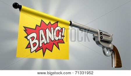 Pistol Bang Flag