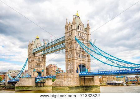 London Tower Bridge on Thames River
