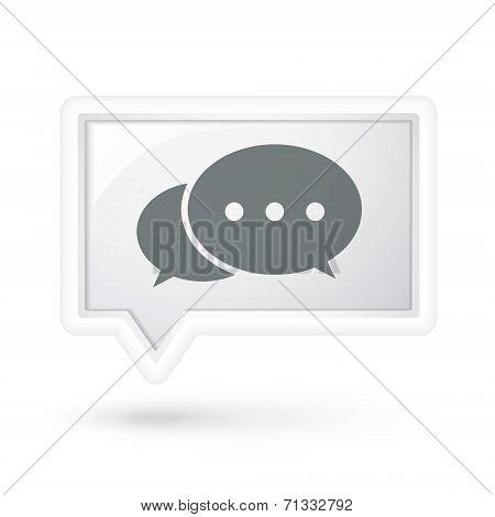 Comment Icon On A Speech Bubble