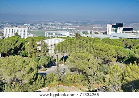 View Of Haifa, Nesher, And The Krayot, Israel