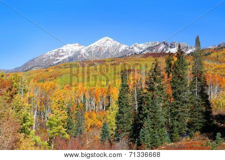 Scenic Beckwith peak in autumn time