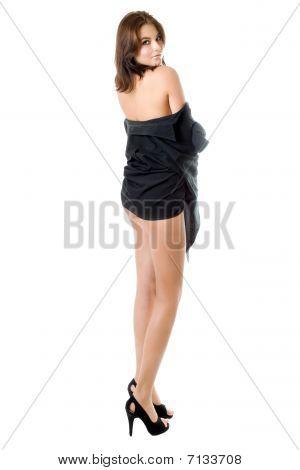 Leggy Brunette