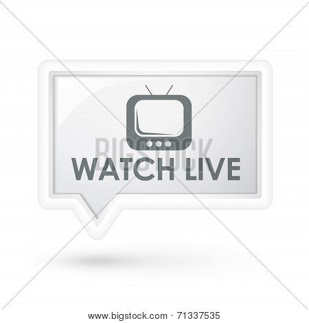 Watch Live Words On A Speech Bubble