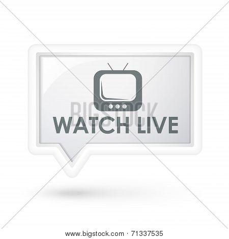 Watch Live Words On A Speech Bubble