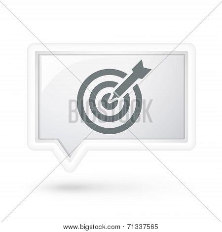 Dartboard Icon On A Speech Bubble
