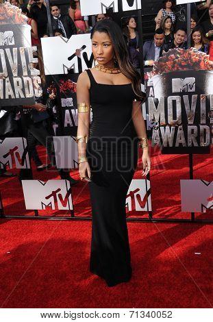 LOS ANGELES - APR 13:  Nicki Minaj arrives to the 2014 MTV Movie Awards  on April 13, 2014 in Los Angeles, CA.