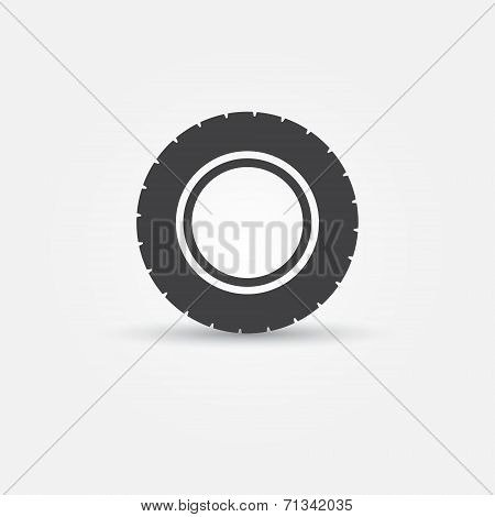 Road tire vector icon