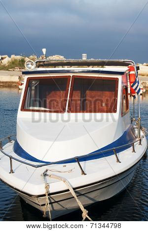 Fishing boat in the Zante town port