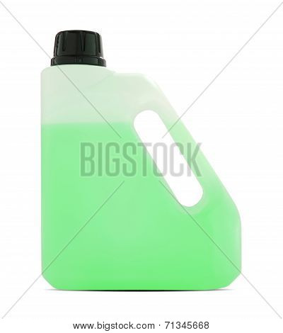 Plastic Gallon Container On White With Clipping Path