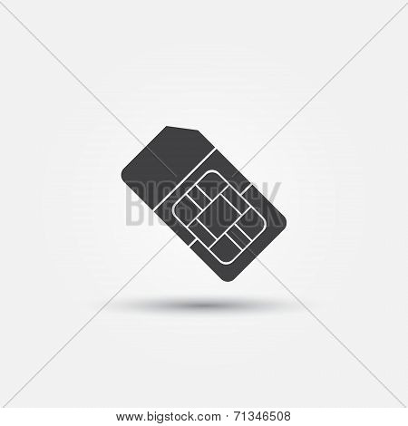 SIM card vector icon
