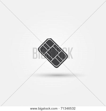 Nano SIM vector icon