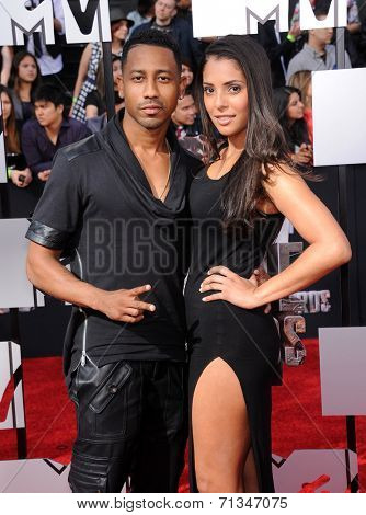 LOS ANGELES - APR 13:  Brandon T. Jackson arrives to the 2014 MTV Movie Awards  on April 13, 2014 in Los Angeles, CA.