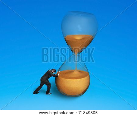 Male Pushing Tilt Hourglass