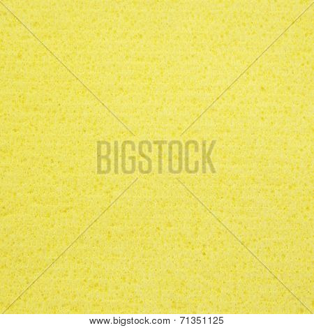 Yellow Sponge Rubber Texture For Background