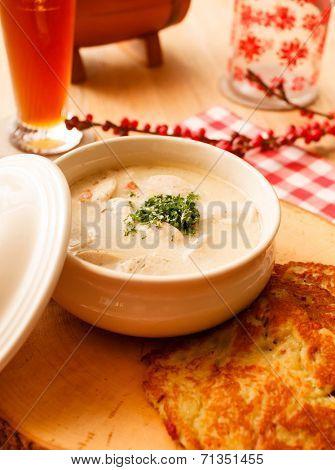 potato pancakes with sause