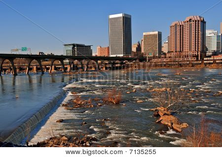 Richmond Virginia over the James.