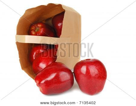 Apples And Paper Bag