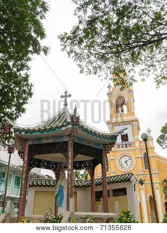 The Saint-Francis Church (Cham Tam Church) in Ho Chi Minh, Vietnam