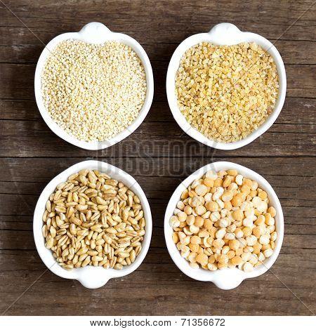 Millet, Spelt, Bulgur And Yellow Peas