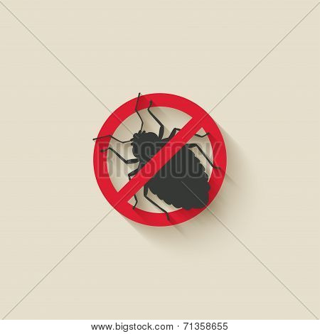 bug warning sign