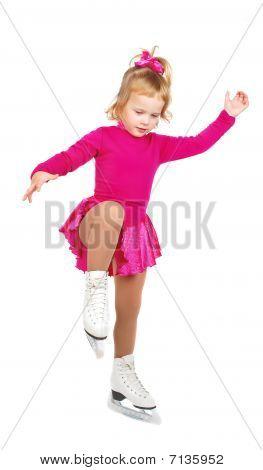 Skates Girl On Practice.