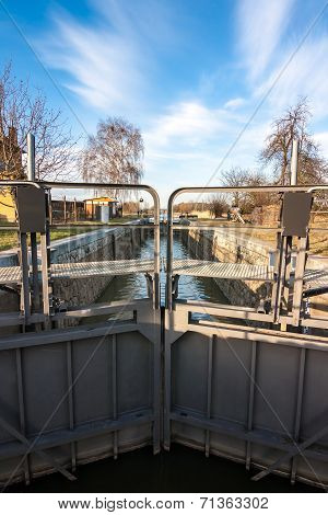 Sluice Gate On A Small Canal
