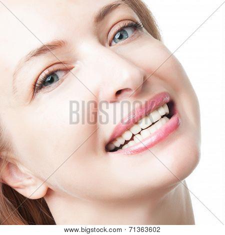 Beautiful Woman Face Close-up
