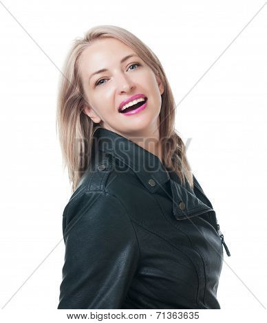 Portrait Of Attractive Blonde Isolated On A White Background
