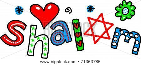 Shalom Cartoon Text Expression
