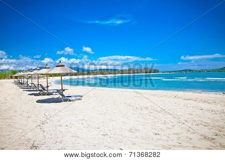 Beautiful Ammoudia sandy beach on Preveza, Greece.