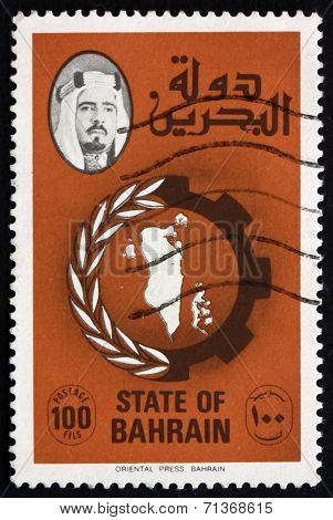 Postage Stamp Bahrain 1977 Map Of Bahrain