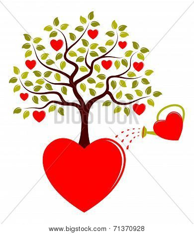 Heart Tree Growing From Heart