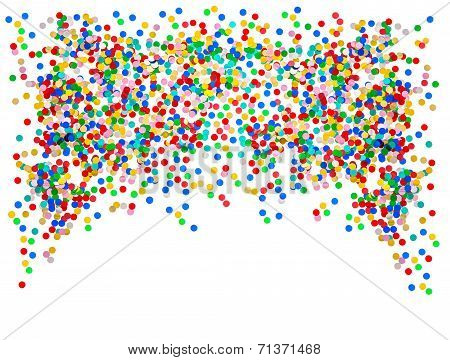 Colorful Confetti Background. Carnival Party Decoration