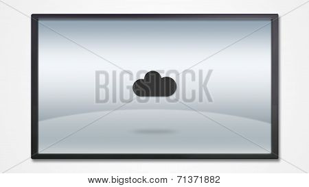 Screen Display With Cloud System Icon