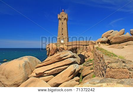 Lighthouse Of Ploumanac'h, Brittany, France