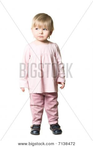 Llittle Child In Pink Clothes