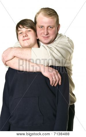 Father And Adolescent Son